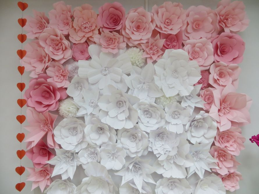 Фон из цветов на свадьбу своими руками 4
