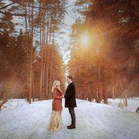 свадьба зима рустик лес