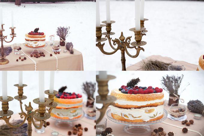 торт рустик лаванда лес свечи