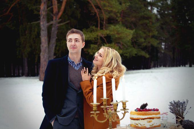 свадьба рустик лес зима зимняя свадьба торт