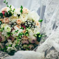 Букет невесты фата