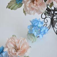 Цветы из шелка ручной работы. Окрашивание ткни вручную