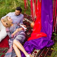 Давид и Сабина История в стиле бохо для двоих  Реальная свадьба цвета - красный, марсала, коричневый, золото, зеленый, сиреневый, оранжевый