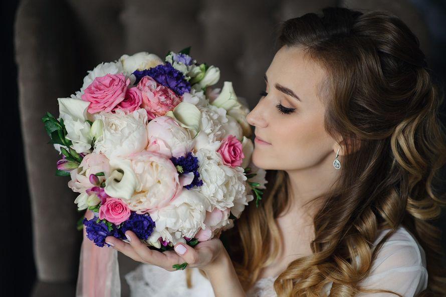 """Букет невесты из пионов, роз, эустомы, калл. Букет невесты в розовой гамме - фото 12741578 Декор-агентство """"Leica decor"""""""