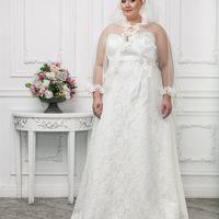 Венчальная накидка  цена 4500 руб., цвета белый и айвори