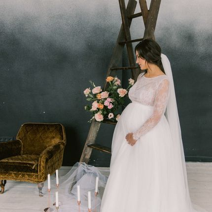 """Свадебное платье для беременных """"Луиза"""""""