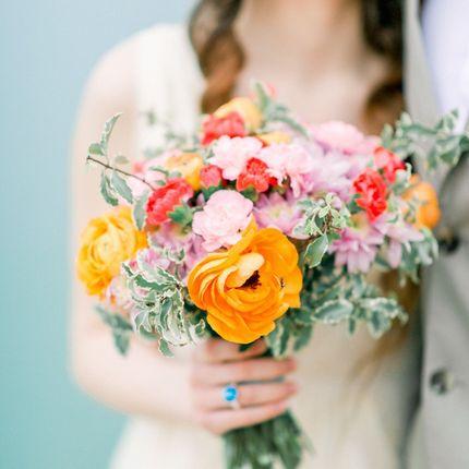 Ярчайший букет невесты