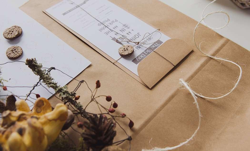 Крафтовое приглашение на свадьбу - фото 4956749 Творческая мастерская DekoLu - оформление