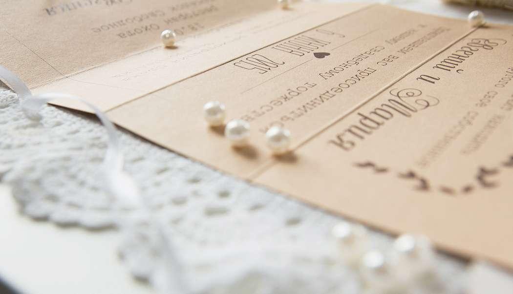 Крафтовое приглашение на свадьбу - фото 4956755 Творческая мастерская DekoLu - оформление
