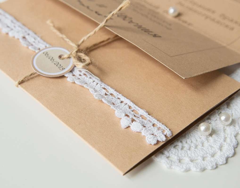 Крафтовое приглашение на свадьбу - фото 4956757 Творческая мастерская DekoLu - оформление