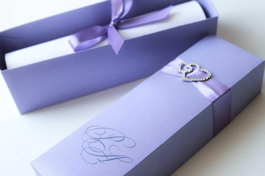 """Приглашение свиток в коробочке - фото 7100116 Полиграфия и аксессуары """"Мастерская приглашений"""""""