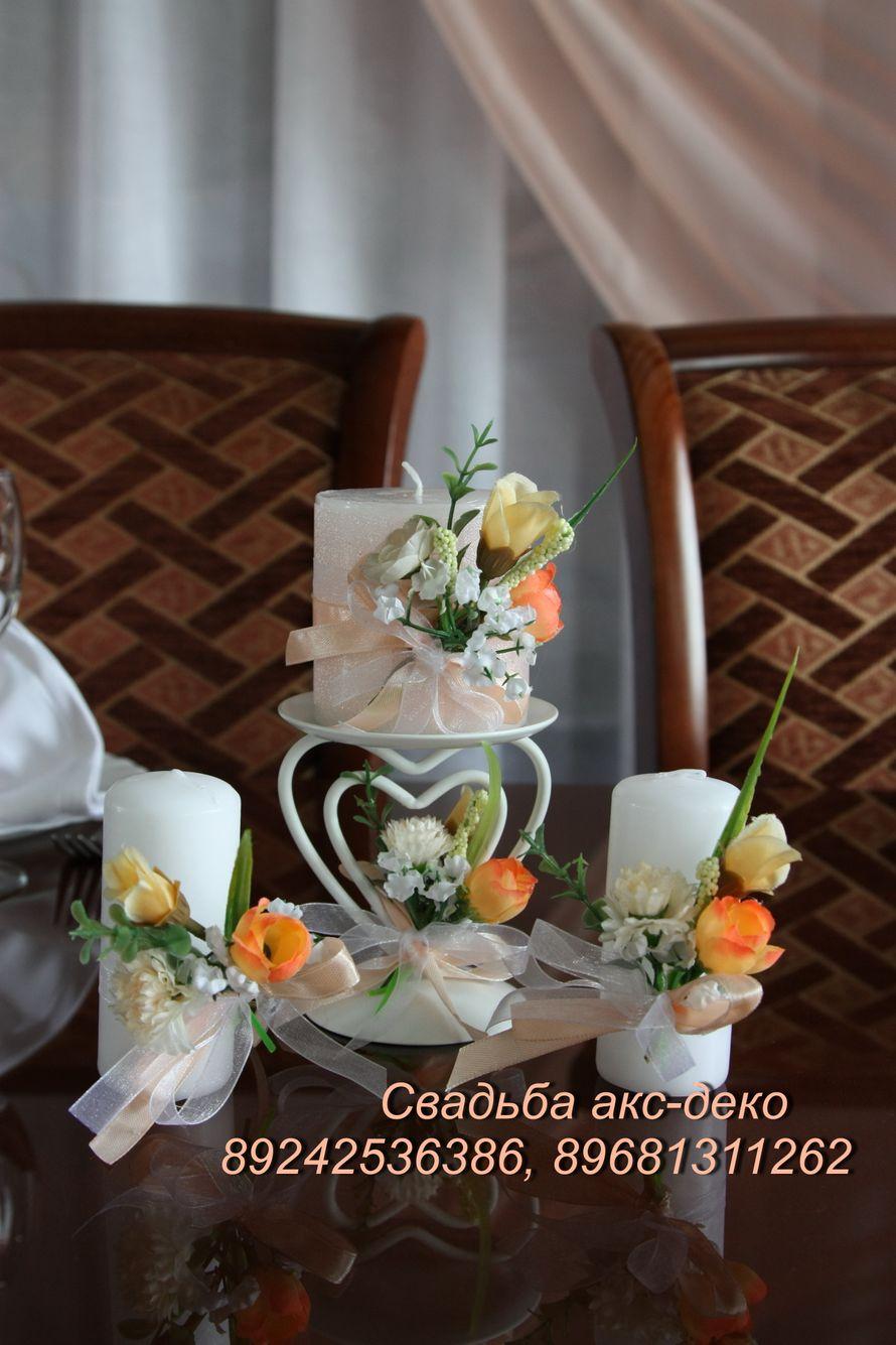 Аксессуары для свадьбы в персиковом цвете - фото 3648953 Акс-декор - оформление