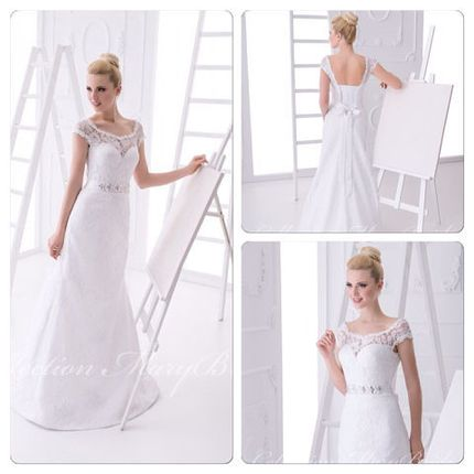 Свадебное платье с пояском коллекция MaryBride 2015