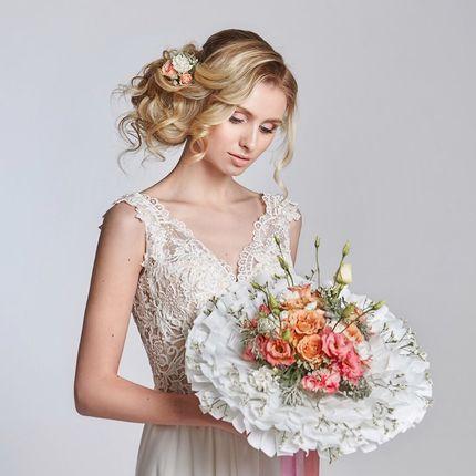Букет невесты в каркасе
