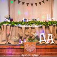 свадебное оформление, стол молодых, оформление зала