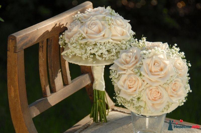Букеты винница, букет невесты из гипсофила и розами