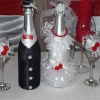 Оформление 2-х бутылок шампанского