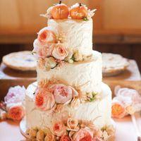 торт в стиле персиковой свадьбы