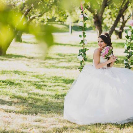 Свадебные верёвочные качели