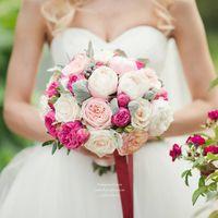 Букет невесты с пионовидными розами и пионами Фото Катя Фирсова Флорист Пашкова Оля