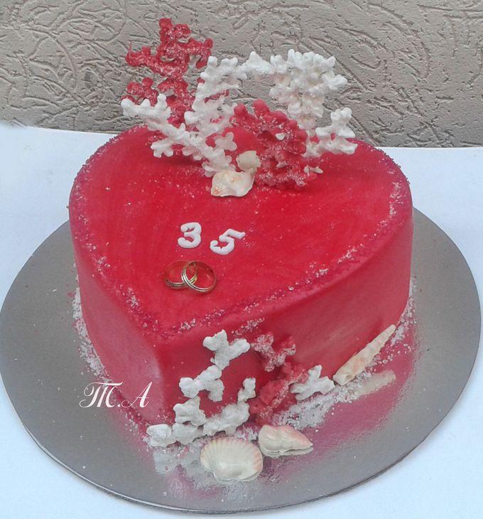 Торт на коралловую свадьбу фото