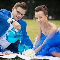 Свадьба в синих тонах. Свадебная прогулка в Царицино