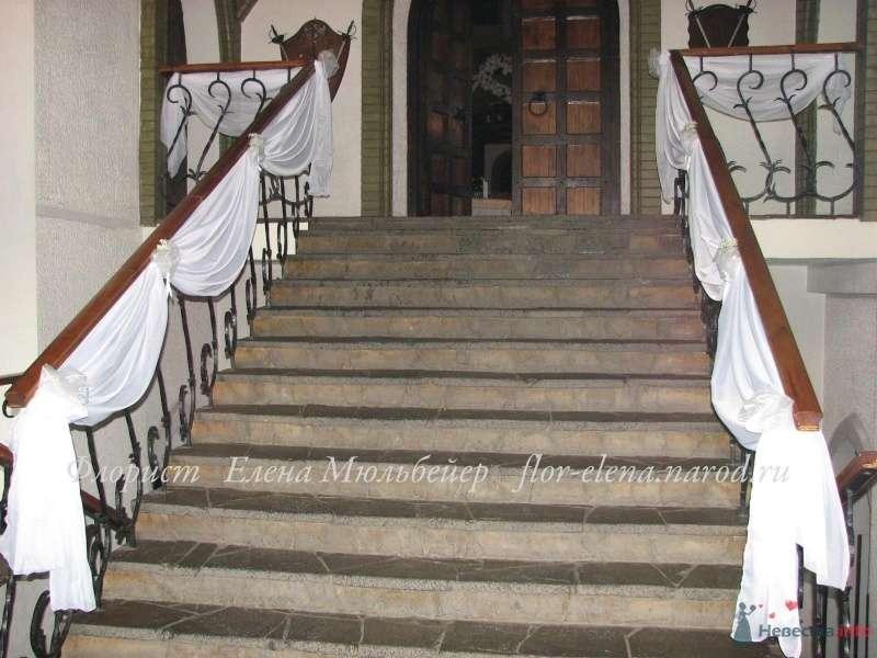 """Оформление тканью лестницы - фото 48072 Цветочная мастерская """"Флорина"""""""