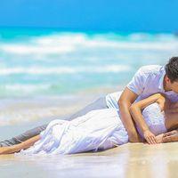 Свадьба в Мексике и сладкие поцелуи на мокром прибрежном песке