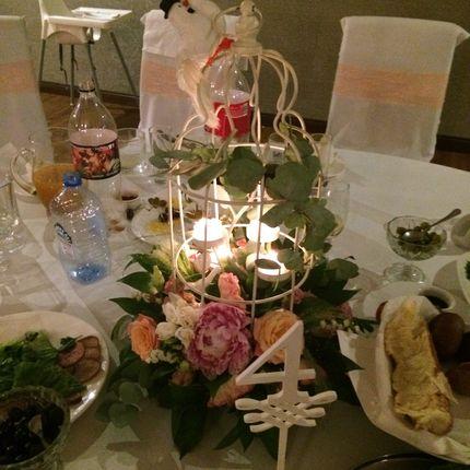 """Цветочные композиции на столы гостей """"Нежность"""", цена за 1 шт"""