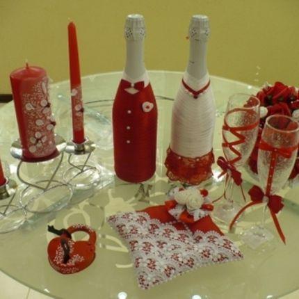 Комплект свадебных предметов