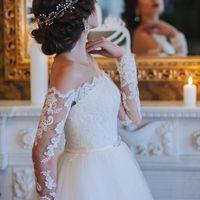 Причёска невесты объёмный пучок