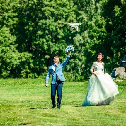 Свадебная аэросъёмка