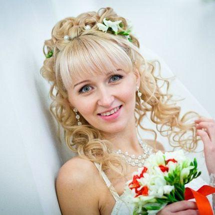 Пробная причёска и макияж невесты