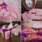 cборы невесты, детали, фиолетовый, розовый