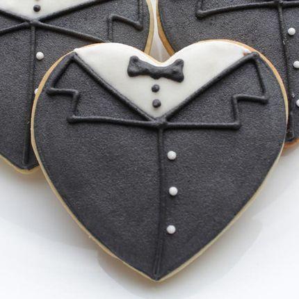 Свадебное печенье ручной работы в форме сердца