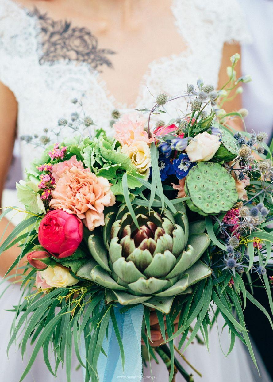 """Букет невесты с артишоком - фото 16526986 Мастерская оформления свадеб """"Magic garden"""""""