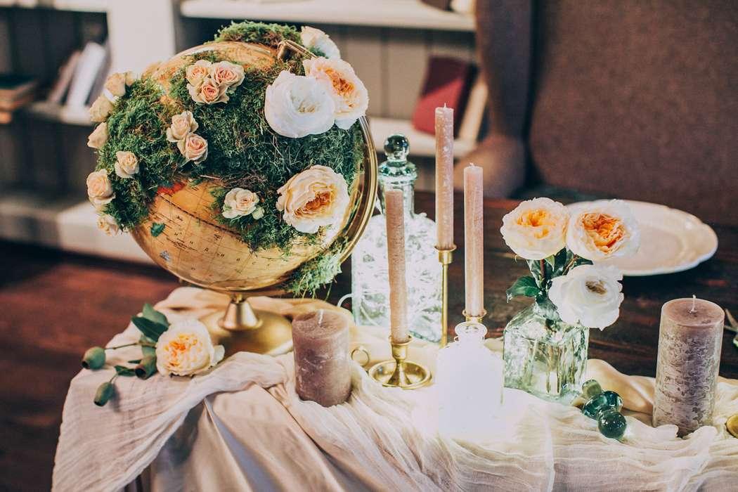 """Оформление президиума. Свадьба в стиле """"Путешествия"""" - фото 7436614 Фотограф Марина Назарова"""