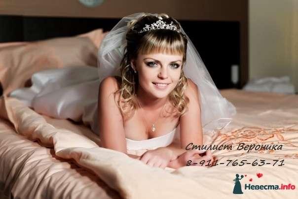 Фото 309340 в коллекции Мои невесты (прически и макияж) - Стилист Вероника Краснова