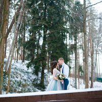 Свадьба в лесу, зимняя прогулка, зимняя love-story, свадьба в Питере, Голубое свадебное платье, свадьба, свадебный фотограф, фотограф Александр Хвостенко