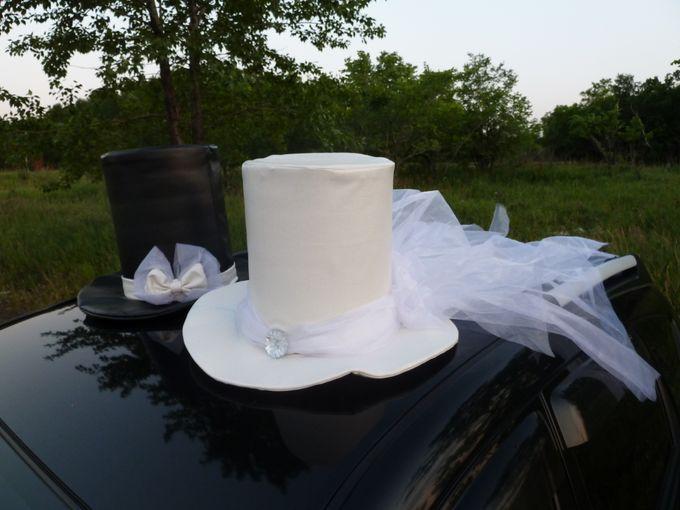 Своими руками цилиндр на машину свадебную