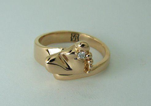 """Обручальное кольцо ножка - фото 3739445 Ювелирная дизайн студия """"Золотая Роскошь"""""""