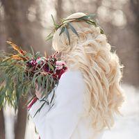 Ирина, прическа и макияж Ирина Любовских. Зимняя свадьба. Стиль бохо