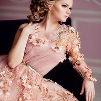 Модель Полина Платье  Визаж  Прическа  фото -я