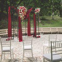 Любовь и лофт как вино (церемония, марсала, лампочки, стулья кьявари)