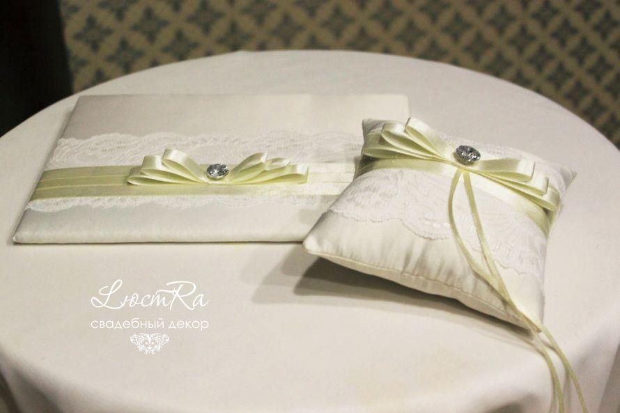 """Папка для свидетельства о регистрации брака. Подушечка для колец. - фото 3777421 Свадебный декор """"LюстRa"""""""