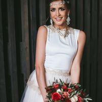 Букет невесты из роз, пионов, гвоздик, озотамнуса и оливы  Флорист Рина Озерова Фотограф Стас Хара
