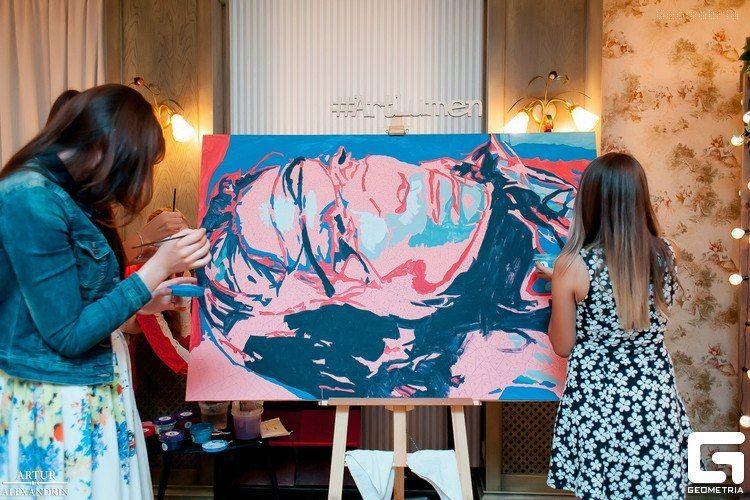 Фото 8651226 в коллекции Живописный интерактив - картина в исполнении гостей события! - Artlumen show - портрет-шоу
