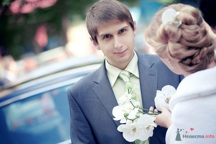 Классический синий костюм жениха двойка с салатовой рубашкой и - фото 47767 Невеста01
