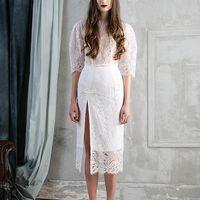 Свадебное платье VARAKSINA из французского кружева и шелка