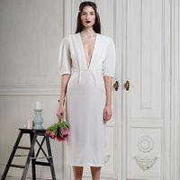 Свадебное платье из шелкового бархата с индивидуальной посадкой на вашу фигуру